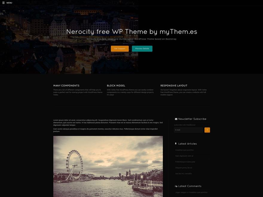 Nerocity WordPress magazine theme