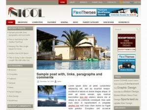 Nicol top WordPress theme