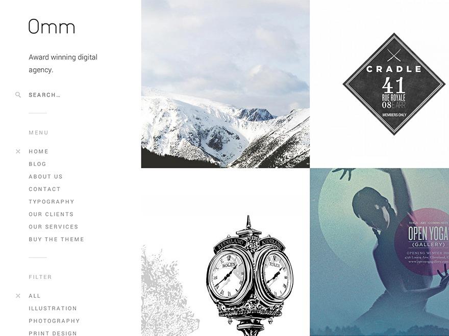 Omm personal blog WordPress theme