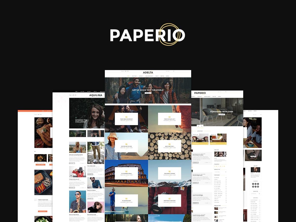 Paperio WordPress blog theme