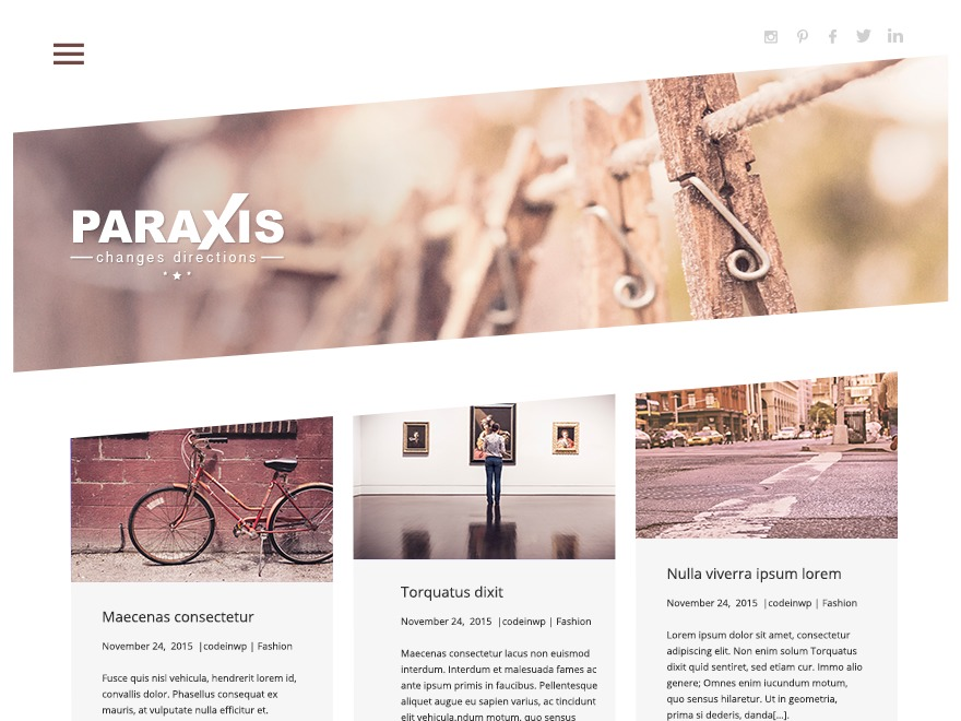 Paraxis Lite WordPress blog template