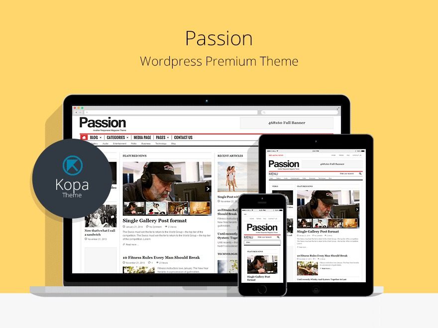 Passion WordPress news template
