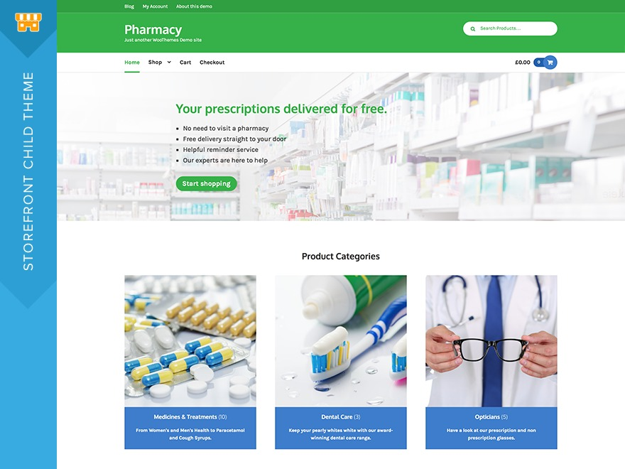 Pharmacy WordPress shop theme