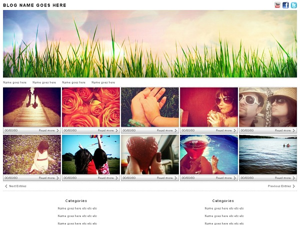 Photologger WordPress news template