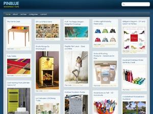 PinBlue personal blog WordPress theme