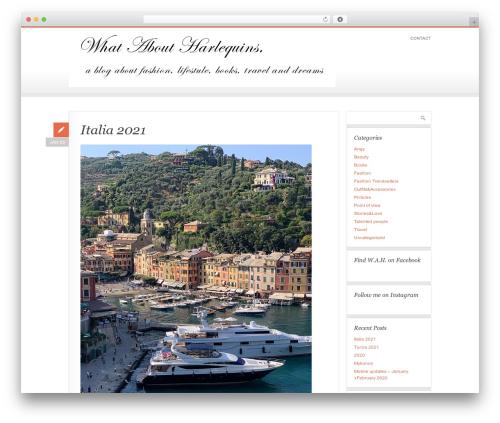 PixelPower WordPress blog theme - whataboutharlequins.com