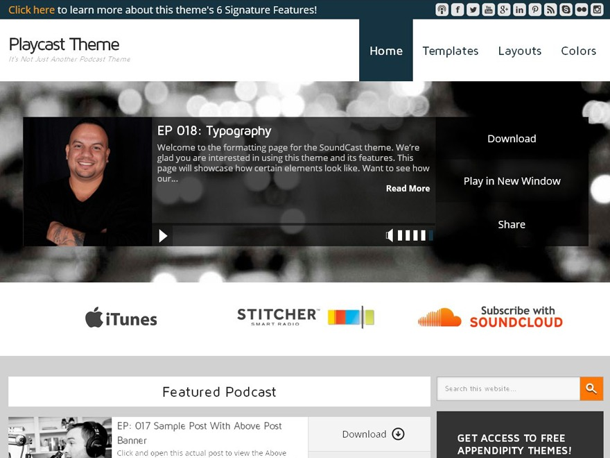 Playcast Child Theme WordPress theme