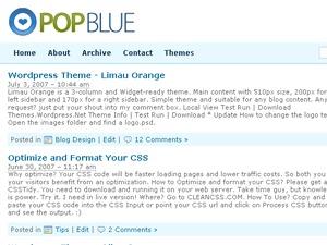 Pop Blue WordPress theme
