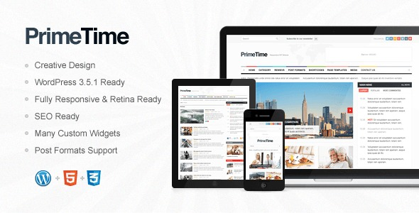 Prime Time WordPress page template