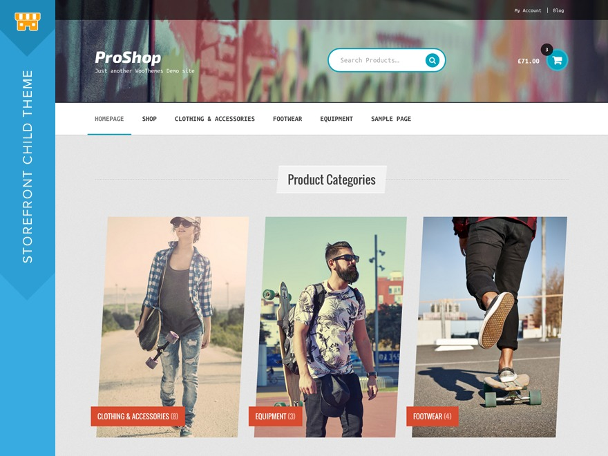 ProShop WordPress shop theme