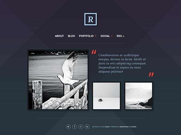 ravel top WordPress theme