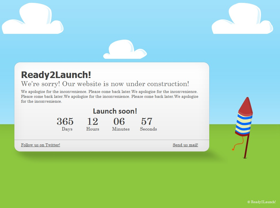 Ready2Launch! WP template