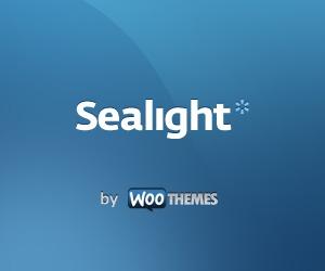 Sealight WordPress theme design