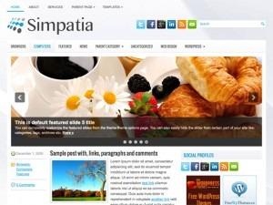 Simpatia WordPress blog template