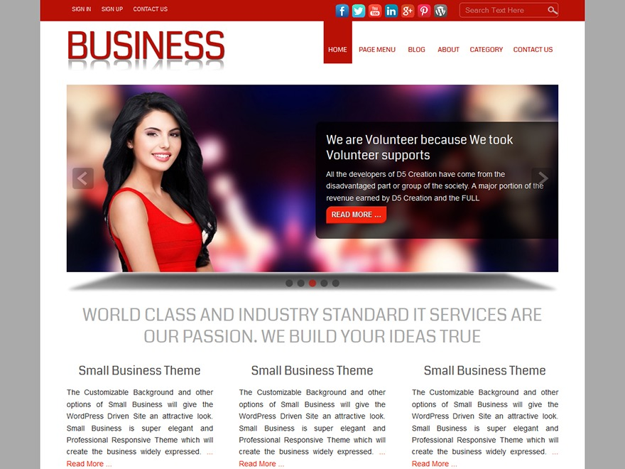 Small Business Extend WordPress theme image