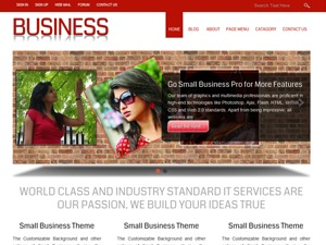 Small Business WordPress template for business