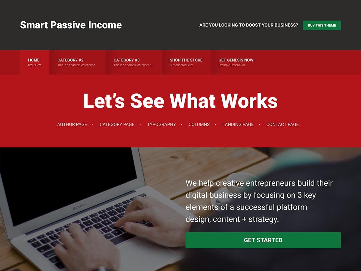 Smart Passive Income Pro WordPress theme