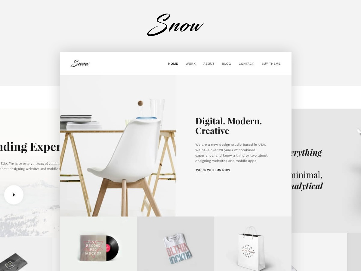 Snow personal WordPress theme