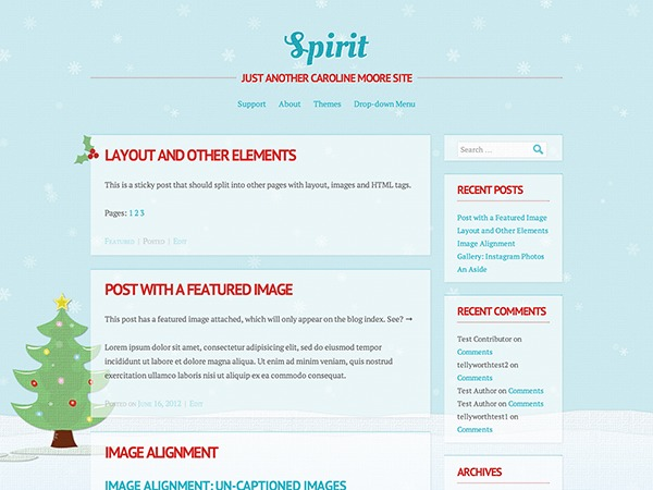 Spirit WordPress theme design