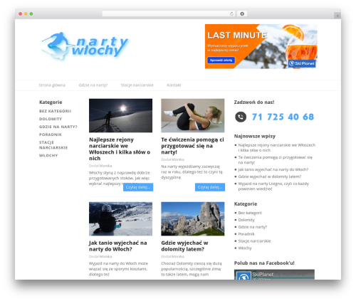 Split WordPress theme - wlochynarty.pl