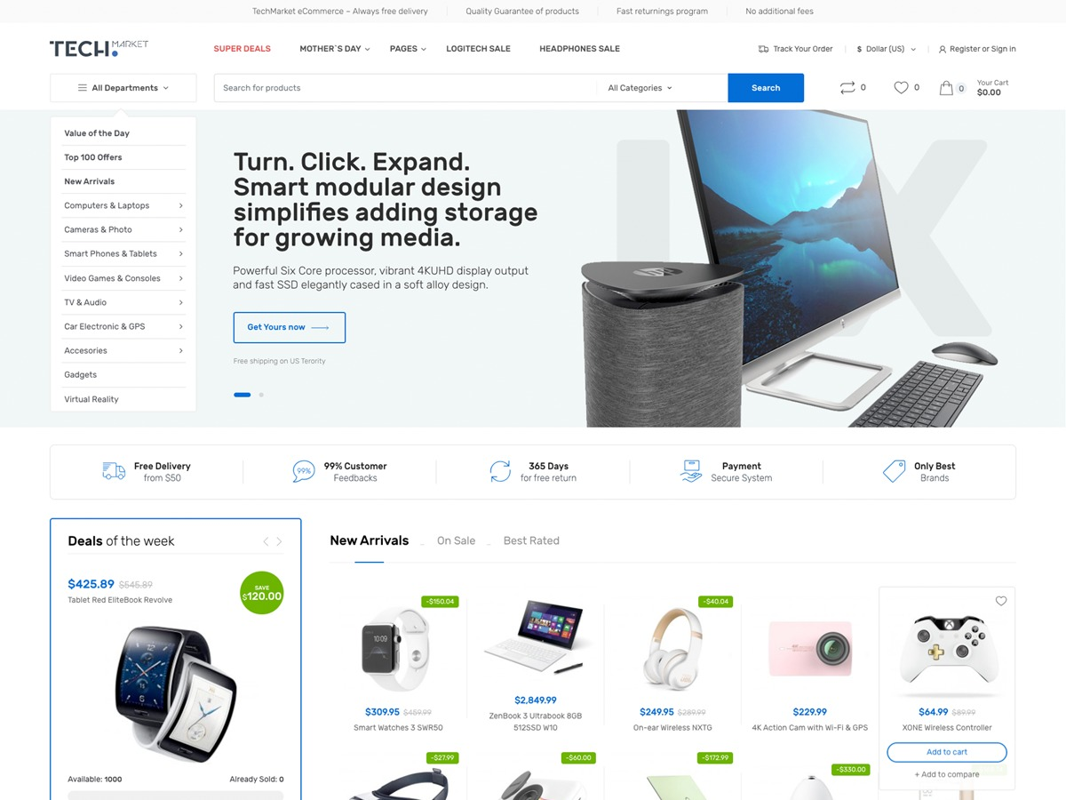 Techmarket WordPress ecommerce template