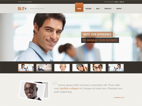 Template WordPress Blitz