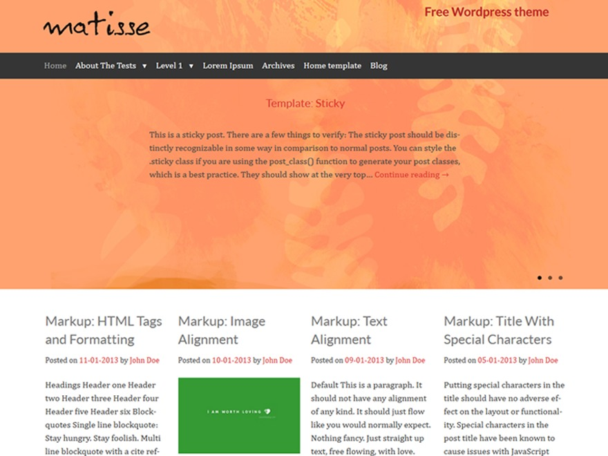 Template WordPress Matisse