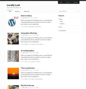 Template WordPress Outline
