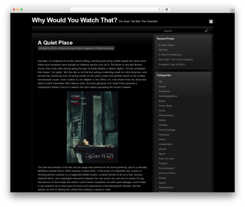 Template WordPress Station - whywouldyouwatchthat.com