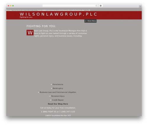 The Erudite business WordPress theme - wlgfights.com