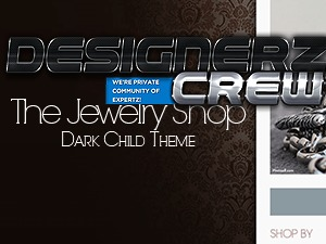 The Jewelry Shop Dark WordPress ecommerce theme