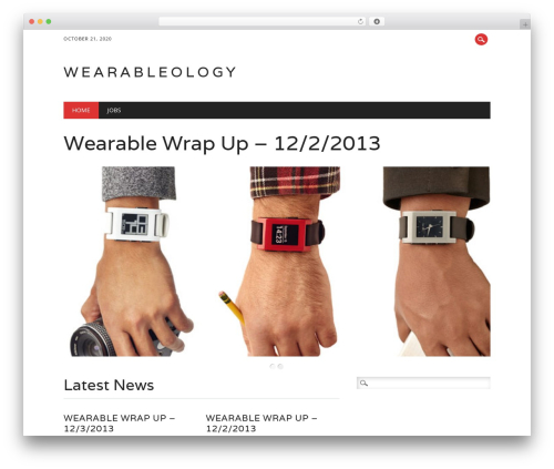 The Newswire best free WordPress theme - wearableology.com