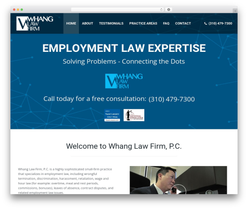The7 company WordPress theme - whanglaw.com