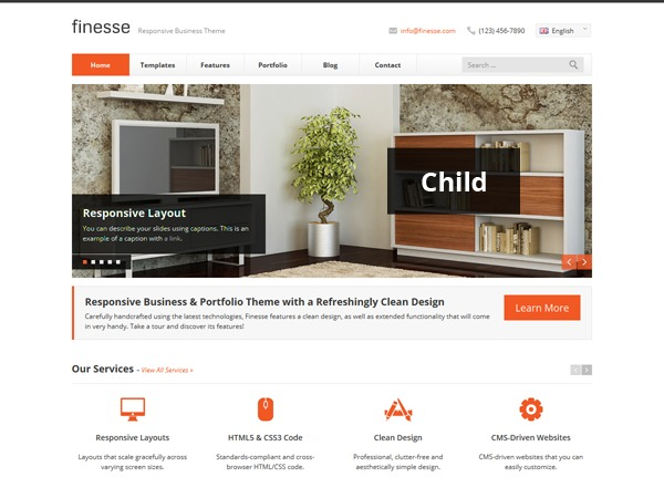 Theme WordPress Finesse Child