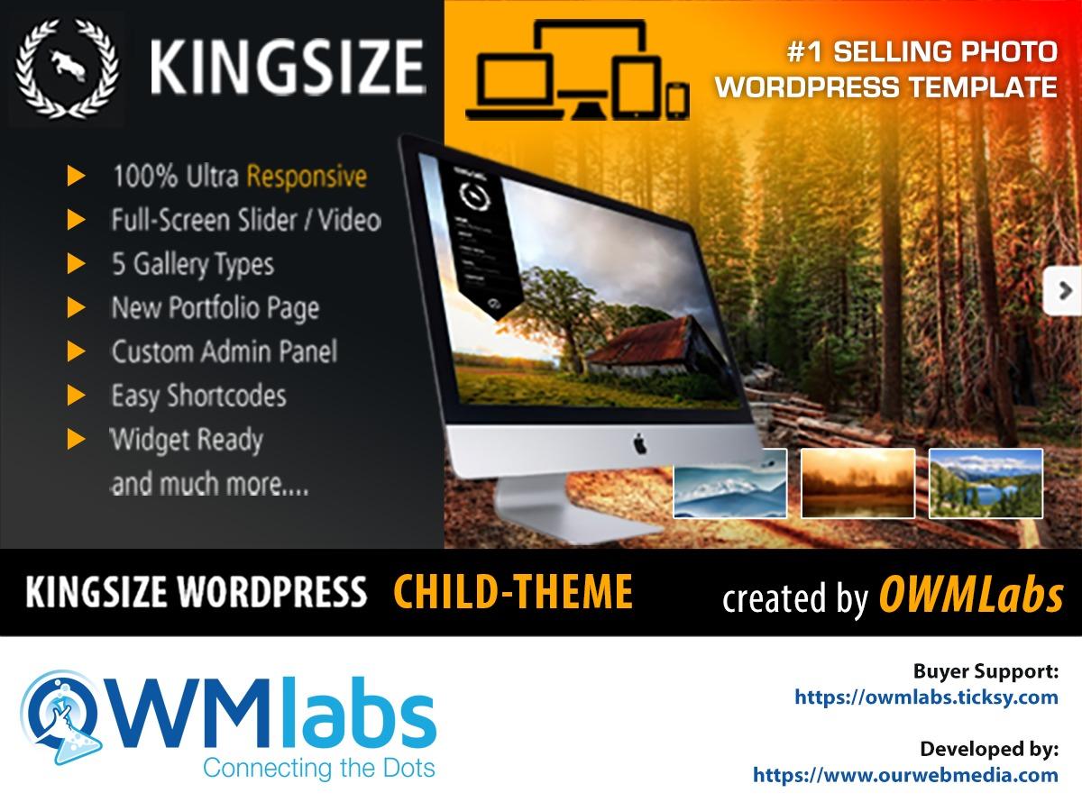 Theme WordPress KingSize Child Theme