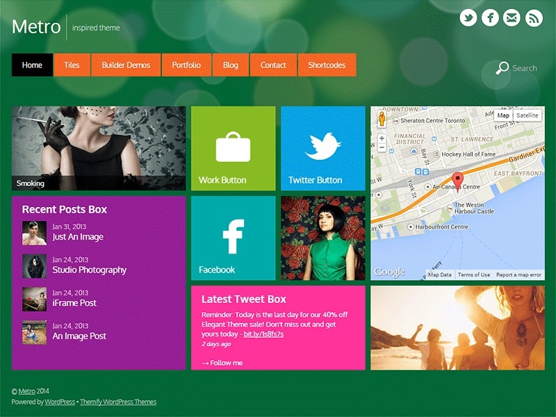 Themify Metro template WordPress