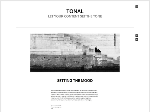 Tonal free WordPress theme