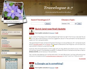 Travelogue WordPress travel theme
