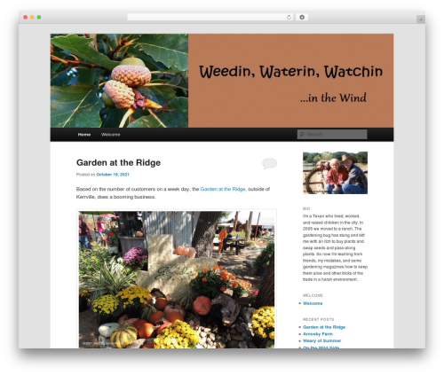 Twenty Eleven WordPress page template - weedinwaterinwatchin.com