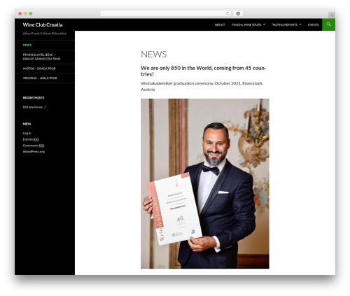Twenty Fourteen template WordPress free - wineclubcroatia.com