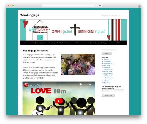 Twenty Ten free WordPress theme - weeengage.com