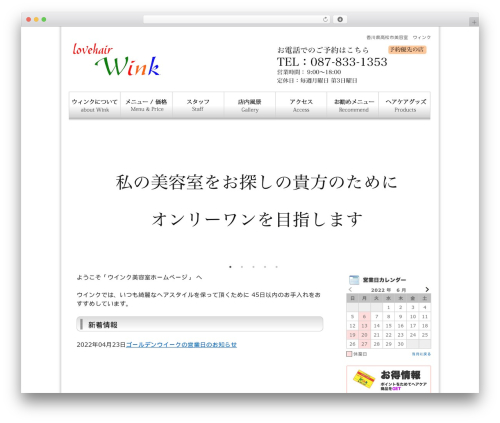 Twenty Ten template WordPress - winkbs.com