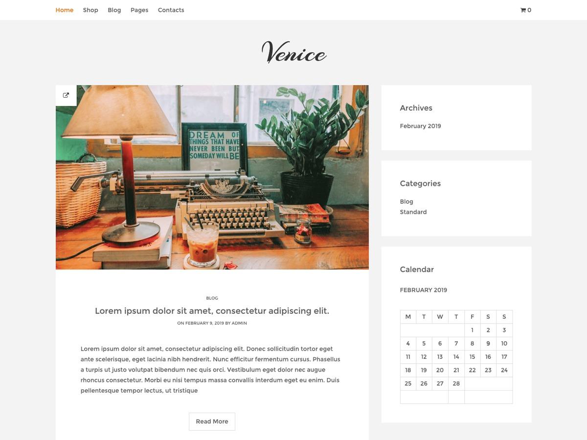 Venice Lite template WordPress free