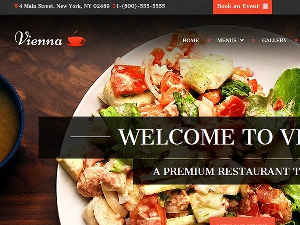 VIENNA - Restaurant WordPress Theme WordPress restaurant theme