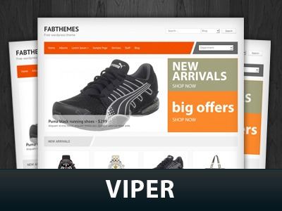 viper WordPress news template