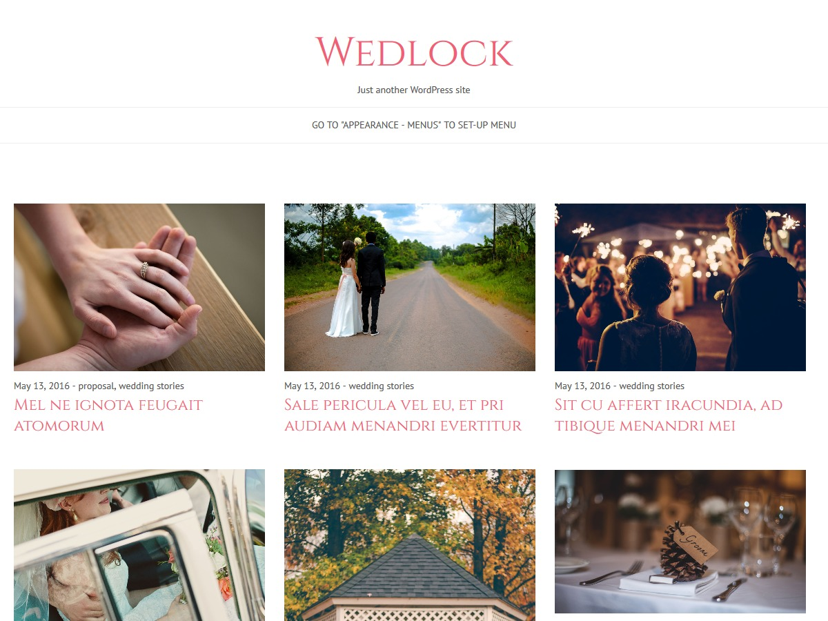 Wedlock WordPress template free download