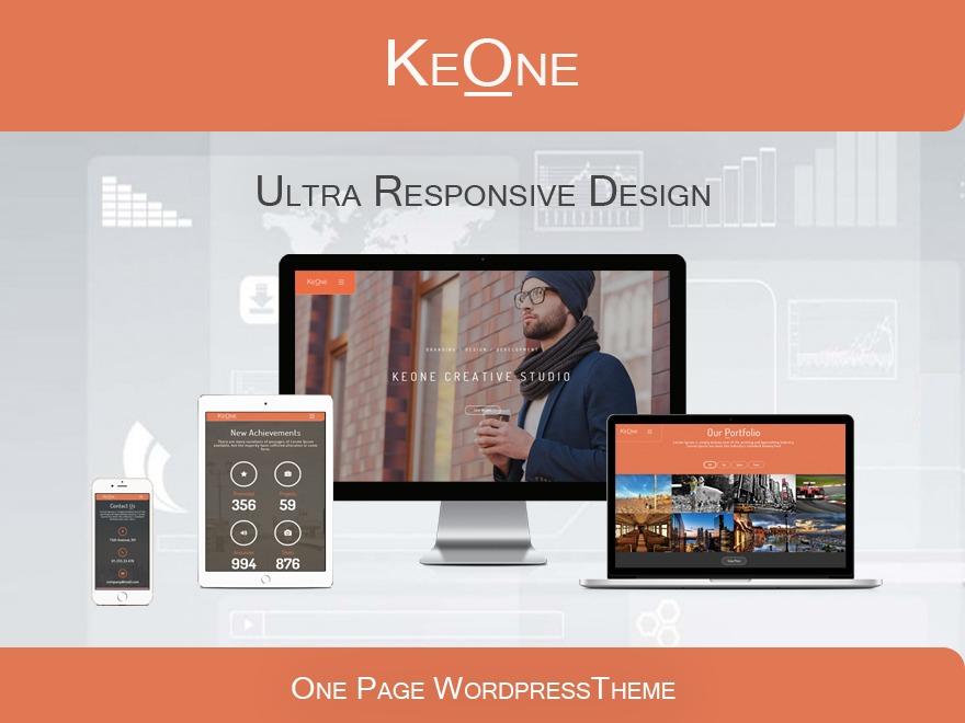WordPress template KeOne Theme