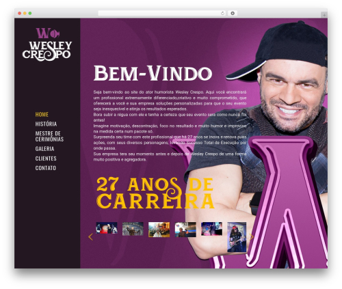 WordPress theme Eram - wesleycrespo.com.br