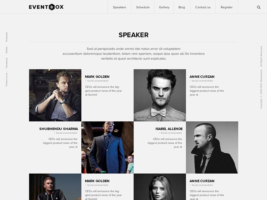 WordPress theme Eventbox