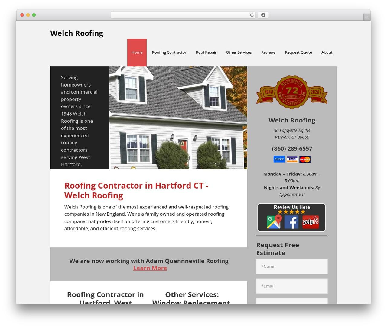 WordPress theme Executive Pro Theme - welchroofing.com